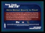 2001 Topps #401   New York Mets Back Thumbnail