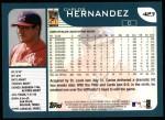 2001 Topps #423  Carlos Hernandez  Back Thumbnail