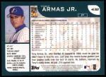 2001 Topps #438  Tony Armas Jr.  Back Thumbnail