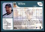 2001 Topps #440  Randy Winn  Back Thumbnail