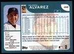 2001 Topps #441  Wilson Alvarez  Back Thumbnail