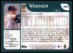 2001 Topps #468  Billy Wagner  Back Thumbnail