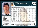 2001 Topps #474  John Thomson  Back Thumbnail
