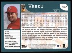 2001 Topps #487  Bobby Abreu  Back Thumbnail