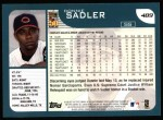 2001 Topps #489  Donnie Sadler  Back Thumbnail