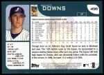 2001 Topps #496  Scott Downs  Back Thumbnail