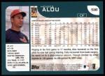 2001 Topps #516  Moises Alou  Back Thumbnail