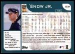 2001 Topps #531  J.T. Snow  Back Thumbnail