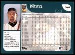 2001 Topps #548  Jeff Reed  Back Thumbnail