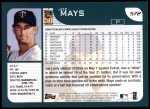 2001 Topps #572  Joe Mays  Back Thumbnail