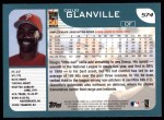 2001 Topps #574  Doug Glanville  Back Thumbnail