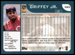 2001 Topps #593  Ken Griffey Jr.  Back Thumbnail