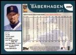 2001 Topps #682  Bret Saberhagen  Back Thumbnail