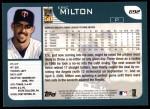 2001 Topps #692  Eric Milton  Back Thumbnail