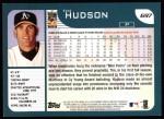 2001 Topps #697  Tim Hudson  Back Thumbnail