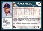 2001 Topps #701  Tim Wakefield  Back Thumbnail