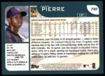 2001 Topps #710  Juan Pierre  Back Thumbnail