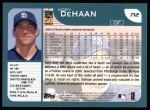 2001 Topps #712  Kory DeHaan  Back Thumbnail