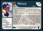 2001 Topps #719  Luis Ordaz  Back Thumbnail