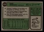 1974 Topps #222  Ramon Hernandez  Back Thumbnail
