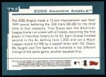 2001 Topps #752   Los Angeles Angels Team Back Thumbnail
