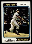 1974 Topps #117  Ron Blomberg  Front Thumbnail