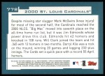 2001 Topps #778   St. Louis Cardinals Team Back Thumbnail