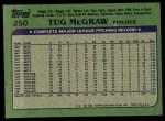 1982 Topps #250  Tug McGraw  Back Thumbnail