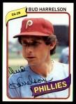 1980 Topps #566  Bud Harrelson  Front Thumbnail