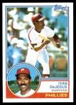 1983 Topps #587  Ivan DeJesus  Front Thumbnail