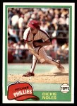 1981 Topps #406  Dickie Noles  Front Thumbnail
