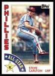 1984 Topps #395   -  Steve Carlton All-Star Front Thumbnail