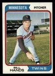 1974 Topps #271  Bill Hands  Front Thumbnail