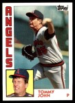 1984 Topps #415  Tommy John  Front Thumbnail