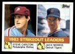 1984 Topps #136  Steve Carlton / Jack Morris  Front Thumbnail
