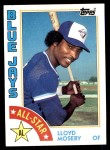 1984 Topps #403   -  Lloyd Moseby All-Star Front Thumbnail