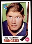 1969 Topps #38  Vic Hadfield  Front Thumbnail