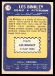 1969 Topps #110  Les Binkley  Back Thumbnail