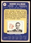 1969 Topps #54  Norm Ullman  Back Thumbnail