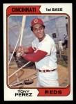 1974 Topps #230  Tony Perez  Front Thumbnail