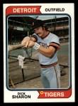 1974 Topps #48  Dick Sharon  Front Thumbnail