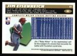 1996 Topps #66  Jim Eisenreich  Back Thumbnail