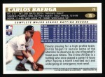 1996 Topps #75  Carlos Baerga  Back Thumbnail