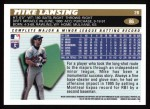 1996 Topps #86  Mike Lansing  Back Thumbnail