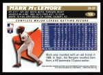 1996 Topps #166  Mark McLemore  Back Thumbnail