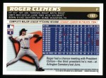 1996 Topps #197  Roger Clemens  Back Thumbnail