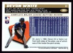 1996 Topps #209  Devon White  Back Thumbnail