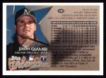 1996 Topps #210  Jason Giambi  Back Thumbnail