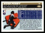 1996 Topps #355  Herb Perry  Back Thumbnail