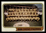 1974 Topps #226 SD  Padres Team Front Thumbnail